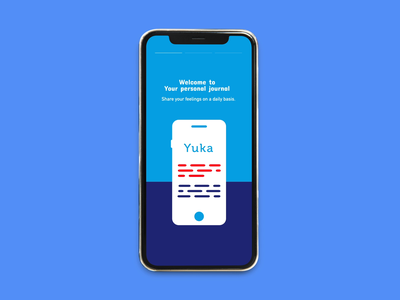 Conceptual diary app | Onboarding screens design animated adobexd after effect onboarding app ux ui