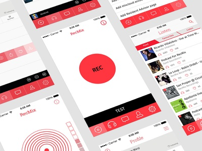 Recmix dj recording ux ui app design