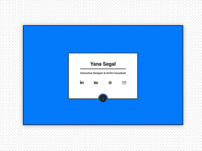 Yana Segal - Portfolio Landing page website blue pattern minimalistic portfolio web design ui ux