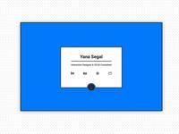 Yana Segal - Portfolio Landing page