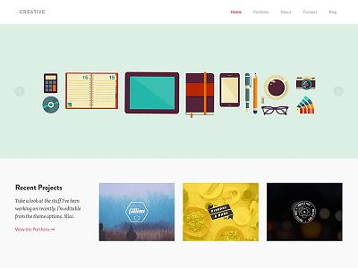 Creative Theme creative portfolio wordpress theme responsive