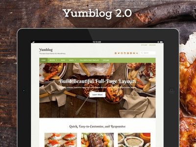 Yumblog 2.0 Released yumblog wordpress theme recipes food blog