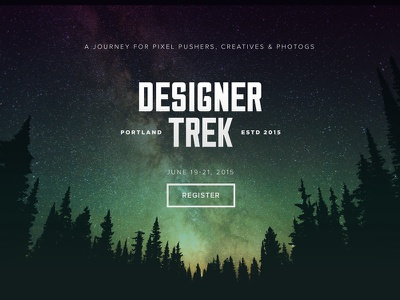 Designer Trek design portland forest stars night time designers nonference retreat