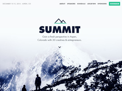 Summit people standing climb fog mountains wordpress conference retreat mockup design psd theme