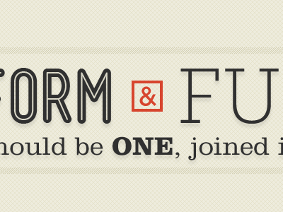 Orm & Fu orm fun hould i be one joined