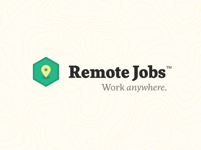 Remote Jobs typography iconography work from home remote jobs remote work logo design branding