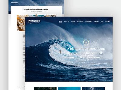 Lyrical WordPress Theme colorful bright water wave design website wordpress theme