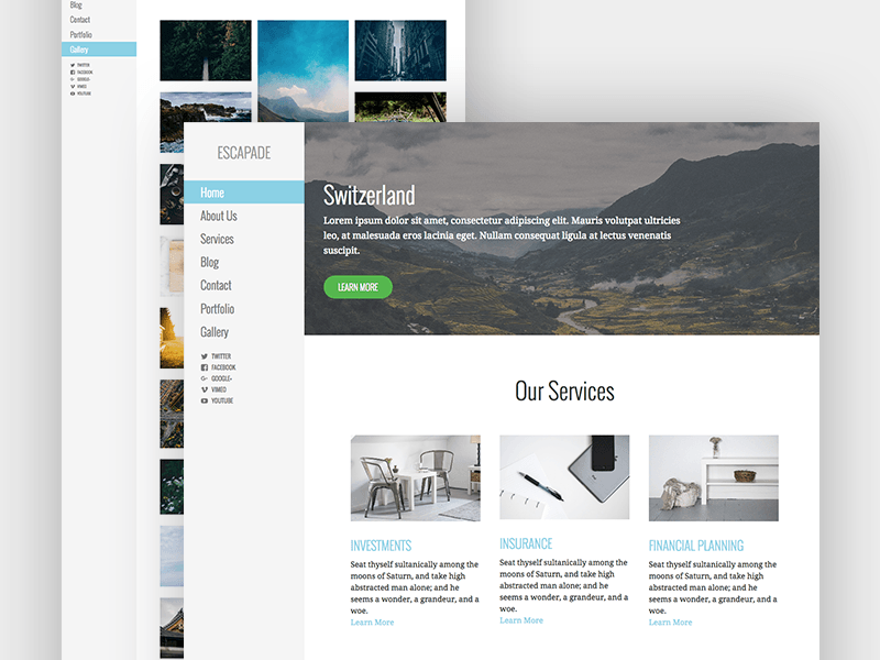Escapade Wordpress Theme By Chris Wallace Dribbble Dribbble