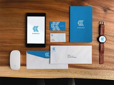 Kanisa Branding business cards notebook collateral design mark branding app