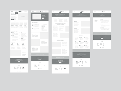 Pressed Wireframes high fidelity process wires grayscale ux wireframes