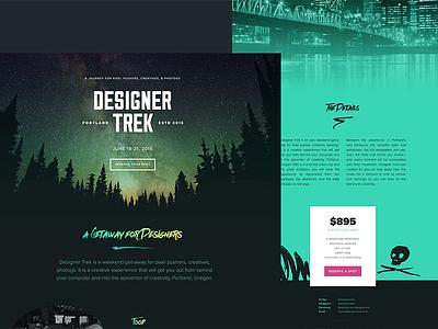 2015 Designer Trek Throwback dark forest single pager designer trek