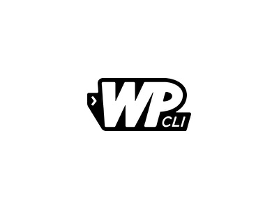 WP-CLI logo iterm terminal black and white logo design branding wp-cli command line interface wordpress