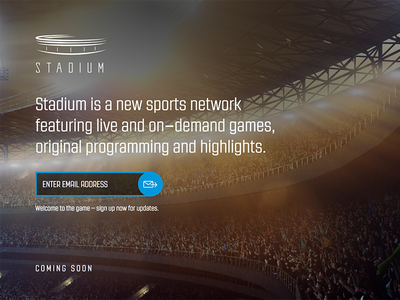 Stadium Splash Page landing page coming soon squeeze page splash page email form stadium