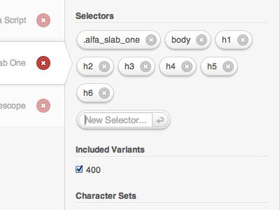 Selectors? Yes, please. selectors typecase upthemes
