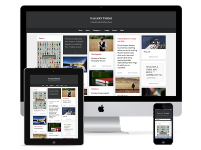 New Gallery Theme free theme wordpress gallery sass masonry grid layout responsive