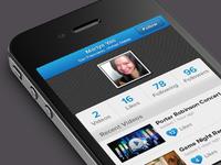 video app profile page