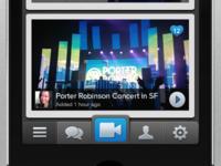 video app main feed