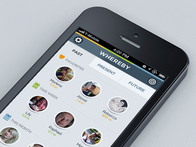 whereby concept mobile location lbs social concept contacts iphone ios