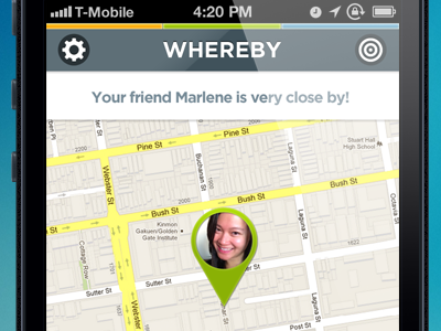 whereby friendmap mobile location lbs social concept contacts iphone ios