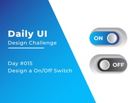 Daily UI Design Challenge Day #015 Design a OnOff Switch