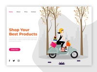 Shopping landing home page design