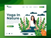 Yoga In Nature Landing Page & Illustration