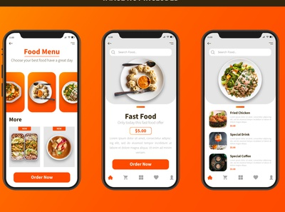 Food App UI Design Template