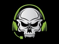 Skull Earphone Logo