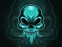 Skull Monster Mucus Logo