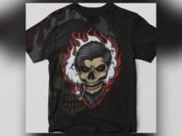 skull smoke fire