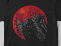 crow red moon