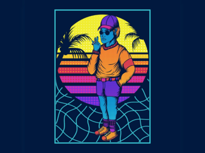 80s style vector illustration