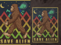 alien and bigfoot