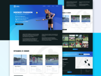Hockey Passion landing page