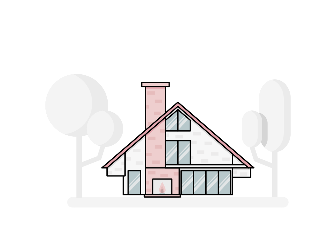 House tree architecture graphicdesign flat  design illustration vector