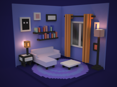 Living Room (Final Colored Version)