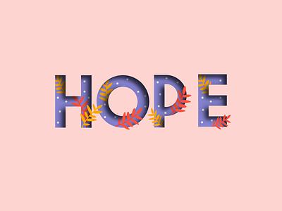 Letterform - Weekly Warm-Up weeklywarmup hope flowers letterform dribbbleweeklywarmup dribbble