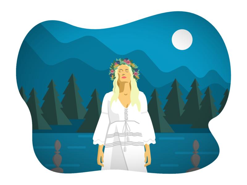 Jonna Jinton vloger youtube character 2d flat  design vectorillustration vector illustration