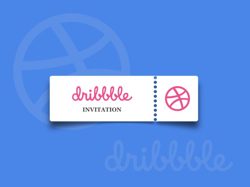 Dribbble Invitation. (Closed) vector flatdesign ticket invitation invite dribbble