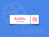 Dribbble Invitation. (Closed) vector flatdesign ticket invitation invite dribbble