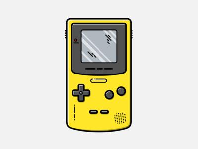 Game Boy Color - Vector Illustration nintendo illustration vector gameboy graphic design design