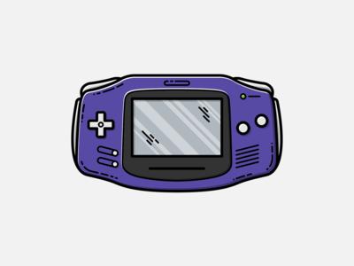 Game Boy Advance - Vector Illustration illustrator vector nintendo design graphic design illustration gameboy