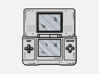 Nintendo DS - Vector Illustration nintendo ds illustrator nintendo vector illustration graphic design gameboy design
