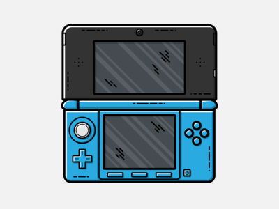 Nintendo 3DS - Vector Illustration video games nintendo 3ds illustrator nintendo vector illustration graphic design design