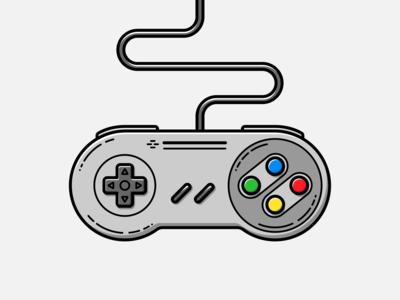 Super Nintendo Pad - Vector Illustration super nintendo super nes nes 80s video games illustrator nintendo vector illustration graphic design design