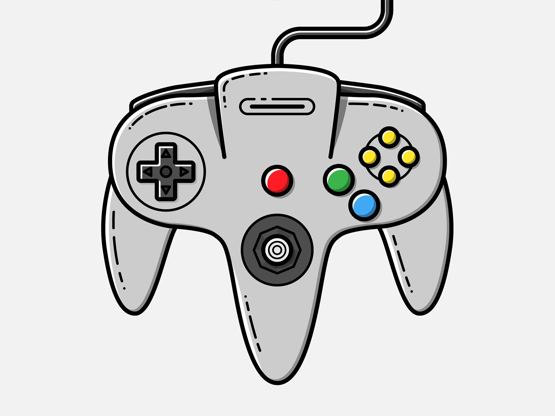 Nintendo 64 Pad - Vector Illustration nintendo 64 video games illustrator nintendo vector illustration graphic design design pad