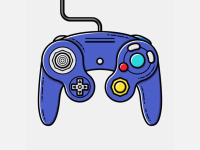 Game Cube Pad - Vector Illustration game cube video games illustrator nintendo vector illustration graphic design design