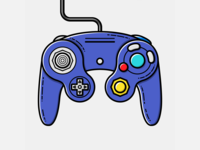 Game Cube Pad - Vector Illustration