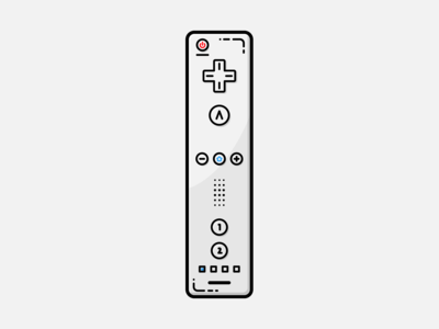Wiimote - Vector Illustration wiimote wii video games illustrator nintendo vector illustration graphic design design