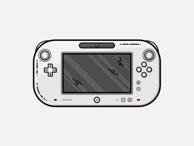 Wii U - Vector Illustration wii u wii video games illustrator nintendo vector illustration graphic design design